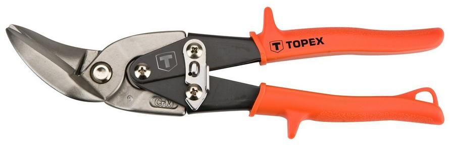 Lemezolló, lemezvágó olló  240 mm áttételes, balos | TOPEX 01A430
