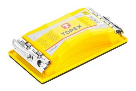 Csiszolótuskó 160 mm x 85 mm kicsi sárga | TOPEX 08A108
