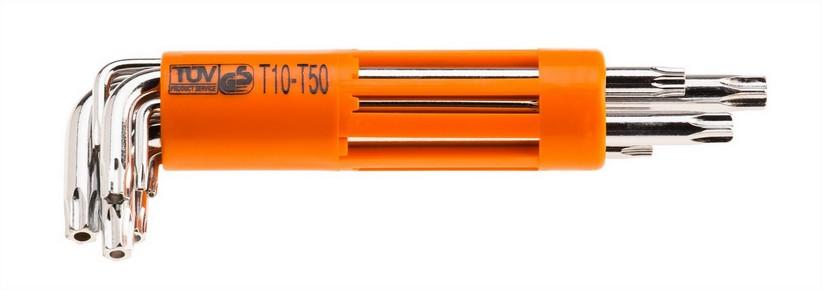 Imbuszkulcs készlet T10 - T50, 8 részes, lyukas Torx | NEO 09-524