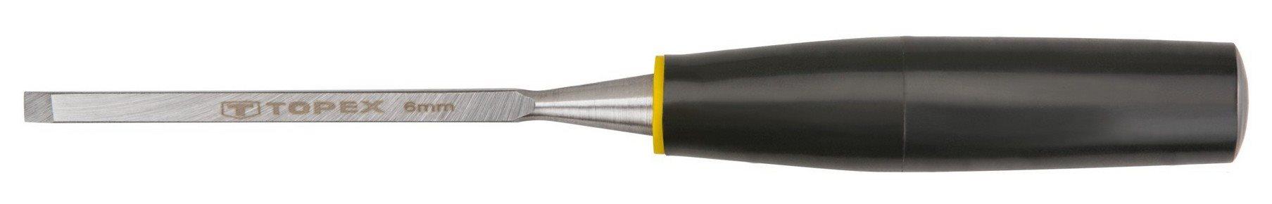 Favésõ 6 mm lapos, mûanyag nyelû | TOPEX 09A106