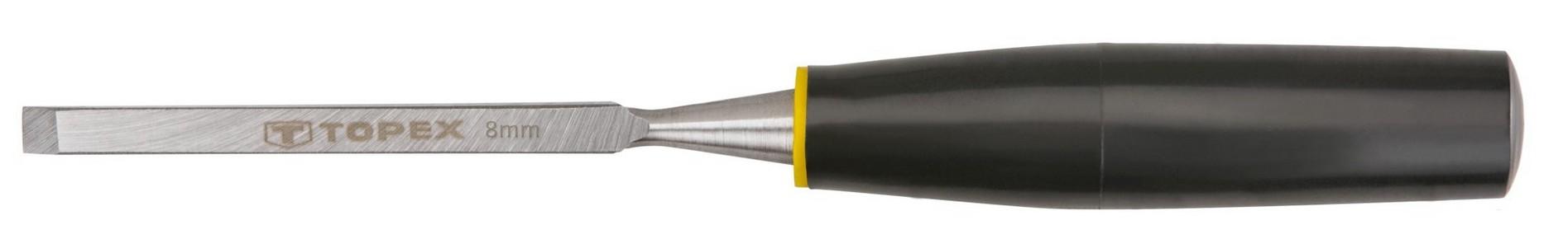 Favésõ 8 mm lapos, mûanyag nyelû | TOPEX 09A108