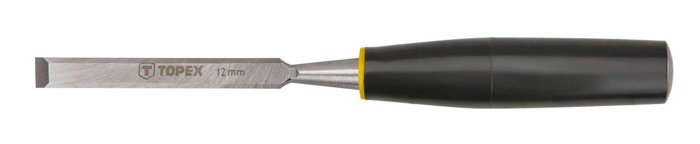 Favésõ 12 mm lapos, mûanyag nyelû | TOPEX 09A112