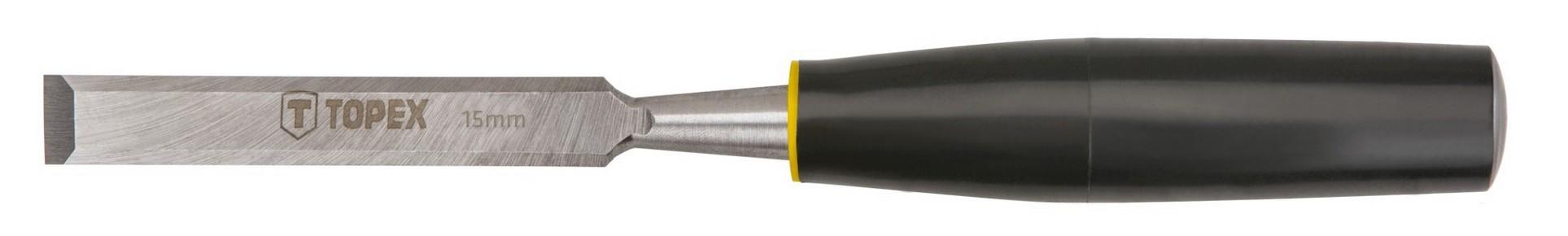Favésõ 15 mm lapos, mûanyag nyelû | TOPEX 09A115