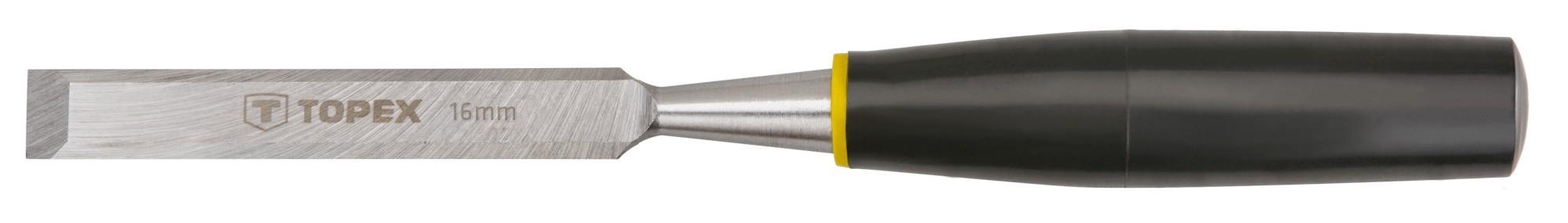 Favésõ 16 mm lapos, mûanyag nyelû | TOPEX 09A116