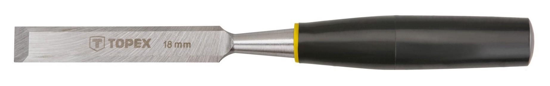 Favésõ 18 mm lapos, mûanyag nyelû | TOPEX 09A118