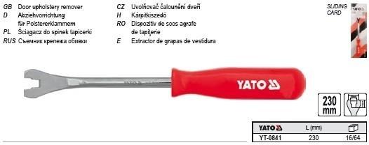 Kárpitleszedő, patent kiszedő 230 mm | YATO YT-0841