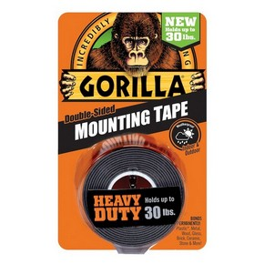GORILLA Heavy Duty Mounting Black Tape kétoldalas ragasztószalag | GORILLA