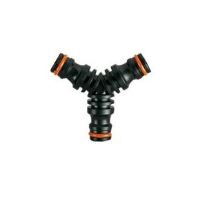 Locsoló tömlőtoldó, összekötő 3 felé ágazó közdarab bliszteres | CLABER 8615