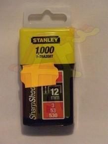 Tûzõkapocs 12 mm 1000 db A-típusú, 3/53/530 | STANLEY 1-TRA208-T