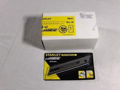 PVC vágó penge 18 mm tördelhetõ, 10 x 10 db-os | STANLEY 1-11-301