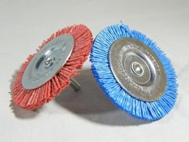 Drótkorong 75 mm P80 egyenes, csapos, nylon, piros