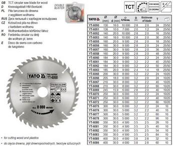 Körfûrésztárcsa, körfûrészlap 300/30 mm Z40 | YATO YT-6076