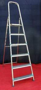 Létra 6 fokos háztartási alumínium létra Eco Plus | ZARGES 49056