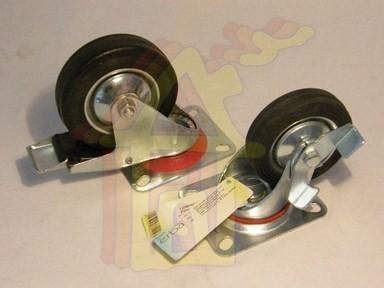 Kerék 125 mm önbeálló talpas-fékes 110 kg terhelhetõség | 33117