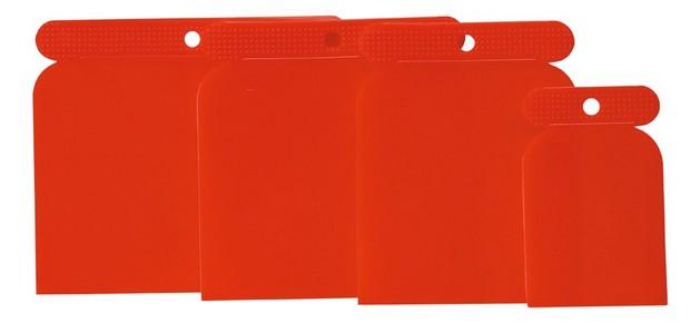 Glettelõ spatulya készlet 50, 80, 100, 120 mm 4 részes, mûanyag | TOPTOOLS 18B437