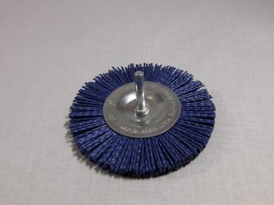 Drótkorong 100 mm P180 egyenes, csapos, nylon kék | 45010080