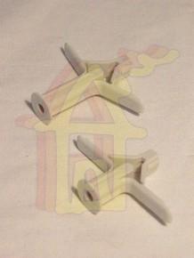 Mûanyag dûbel 10 mm x 25 mm dupla gipszkartonhoz, szárnyas