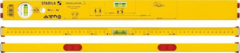 Mágneses vízmérték 80M 60 cm | STABILA 16881