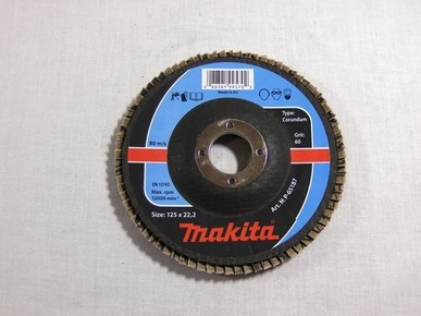 Csiszolókorong 125 mm A60 legyezõlapos, fa-fém | 65187