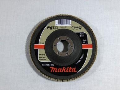 Csiszolókorong 125 mm K80 legyezõlapos, fa-fém, inox