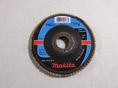 Csiszolókorong 115 mm K80 legyezõlapos, fa-fém