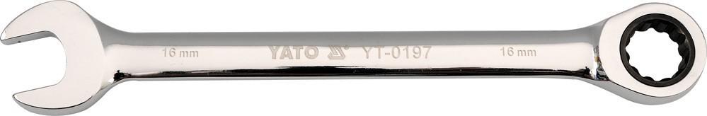 Csillag-villáskulcs 12 mm racsnis | YATO YT-0193