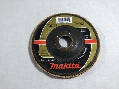 Csiszolókorong 125 mm K120 legyezõlapos, fa-fém, inox