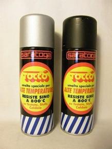 SARATOGA Tocco Extra hőálló festék spray 200 ml fekete 800C°-ig hőálló | SARATOGA 88440001