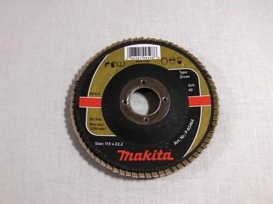 Csiszolókorong 115 mm K60 legyezõlapos, fa-fém inox