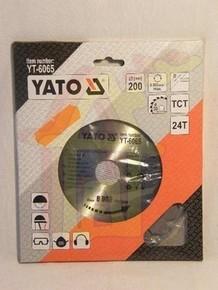 Körfûrésztárcsa, körfûrészlap 200/30 mm Z24 | YATO YT-6065