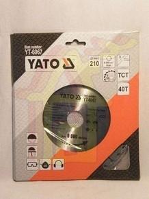 Körfûrésztárcsa, körfûrészlap 210/30 mm Z40 | YATO YT-6067