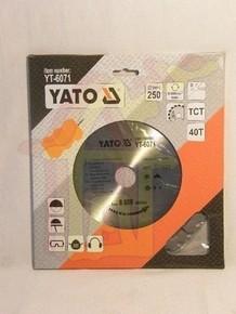 Körfűrésztárcsa, körfűrészlap 250/30 mm Z40 | YATO YT-6071