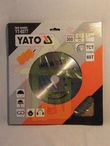 Körfűrésztárcsa, körfűrészlap 300/30 mm Z60 | YATO YT-6077