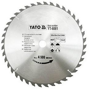 Körfűrésztárcsa, körfűrészlap 350/30 mm Z40   YATO YT-6081