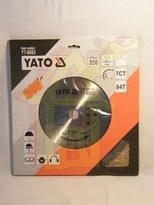 Körfűrésztárcsa, körfűrészlap 350/30 mm Z84   YATO YT-6083