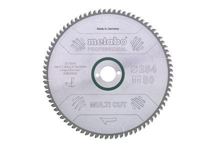 Körfűrésztárcsa, körfűrészlap MULTI PROFESSIONAL 300 mm x 30 mm Z96 FZ/TZ, 6°neg. | METABO 628090000