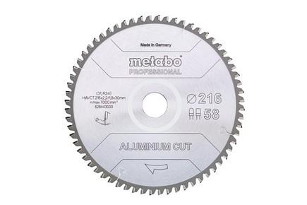 Körfűrésztárcsa, körfűrészlap ALUMINIUM  PROFESSINAL 305 mm x 30 mm Z84  FZ/TZ 5° neg. | METABO 628448000
