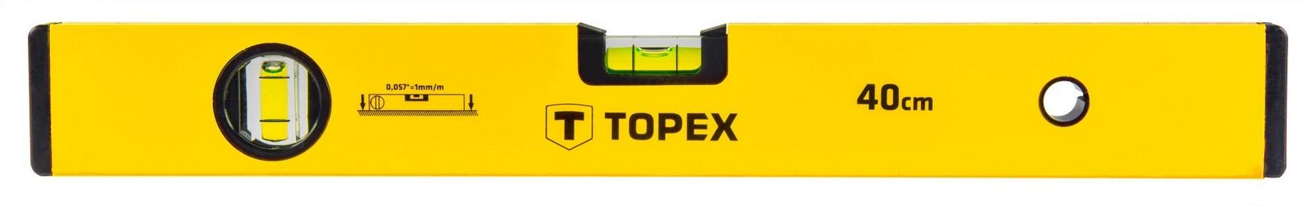 Vízmérték 40 cm 2 libellás | TOPEX 29C501