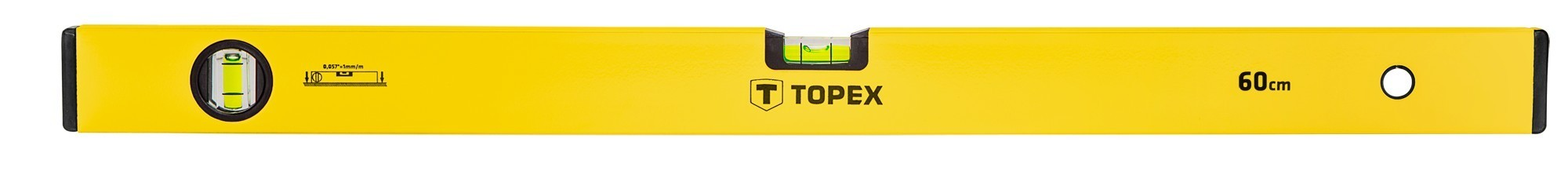 Vízmérték 60 cm 2 libellás | TOPEX 29C502