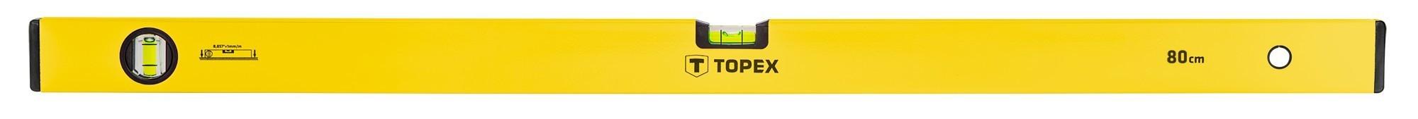 Vízmérték 80 cm 2 libellás | TOPEX 29C503