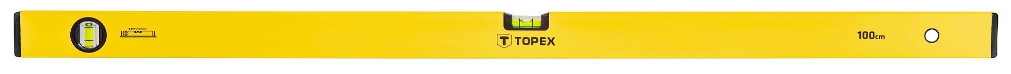 Vízmérték 100 cm 2 libellás | TOPEX 29C504