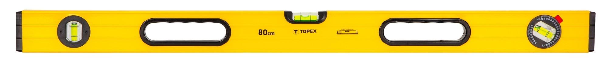 Vízmérték 80 cm 3 libellás, bordázott | TOPEX 29C603