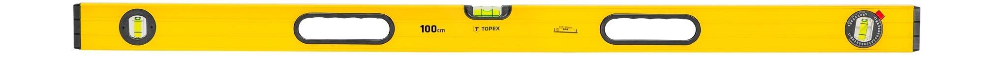 Vízmérték 100 cm 3 libellás, bordázott | TOPEX 29C604