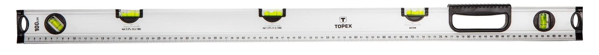 Vízmérték 100 cm 5 libellás | TOPEX 29C884