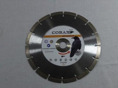 Gyémánt vágókorong, vágótárcsa 230 mm x 22,3 mm x 10 mm szegmenses, sarokcsiszolóhoz, Standard Uni   CORAX CR645318