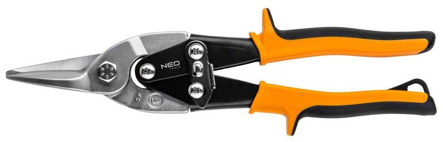 Lemezolló, lemezvágó olló  250 mm egyenes, áttételes   NEO 31-050