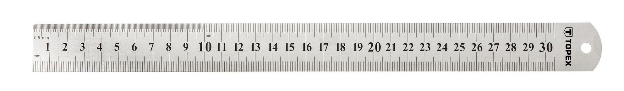 Acélvonalzó 300 mm rozsdamentes | TOPEX 31C030