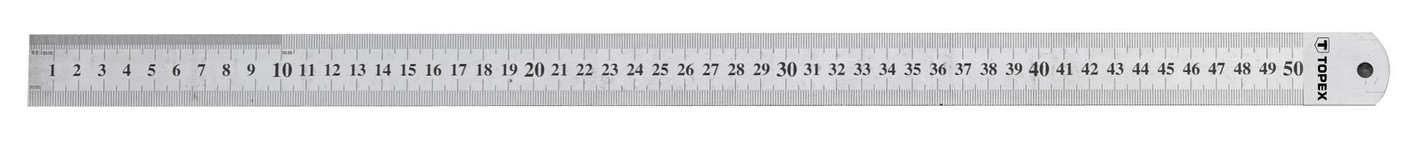 Acélvonalzó 500 mm rozsdamentes | TOPEX 31C050