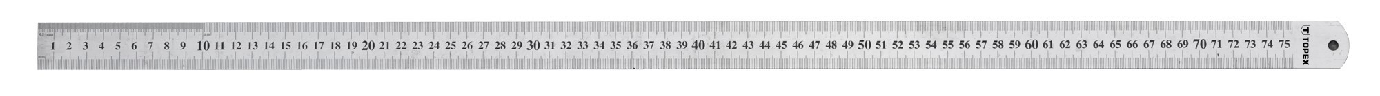 Acélvonalzó 750 mm rozsdamentes | TOPEX 31C075