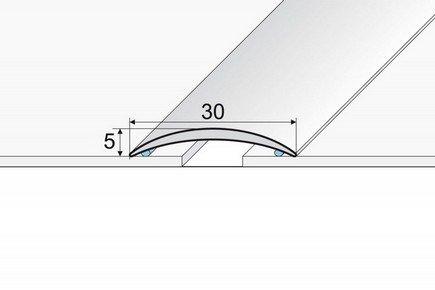 Burkolatváltó sín ezüst 3 cm-es öntapadós 93 cm A03